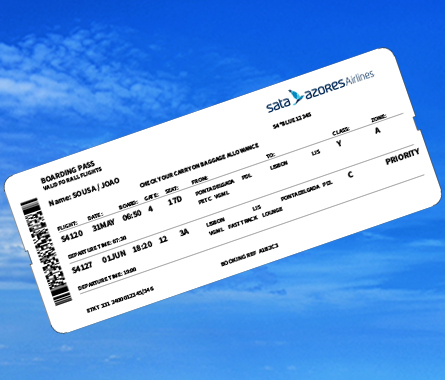 Azores Airlines Boarding pass