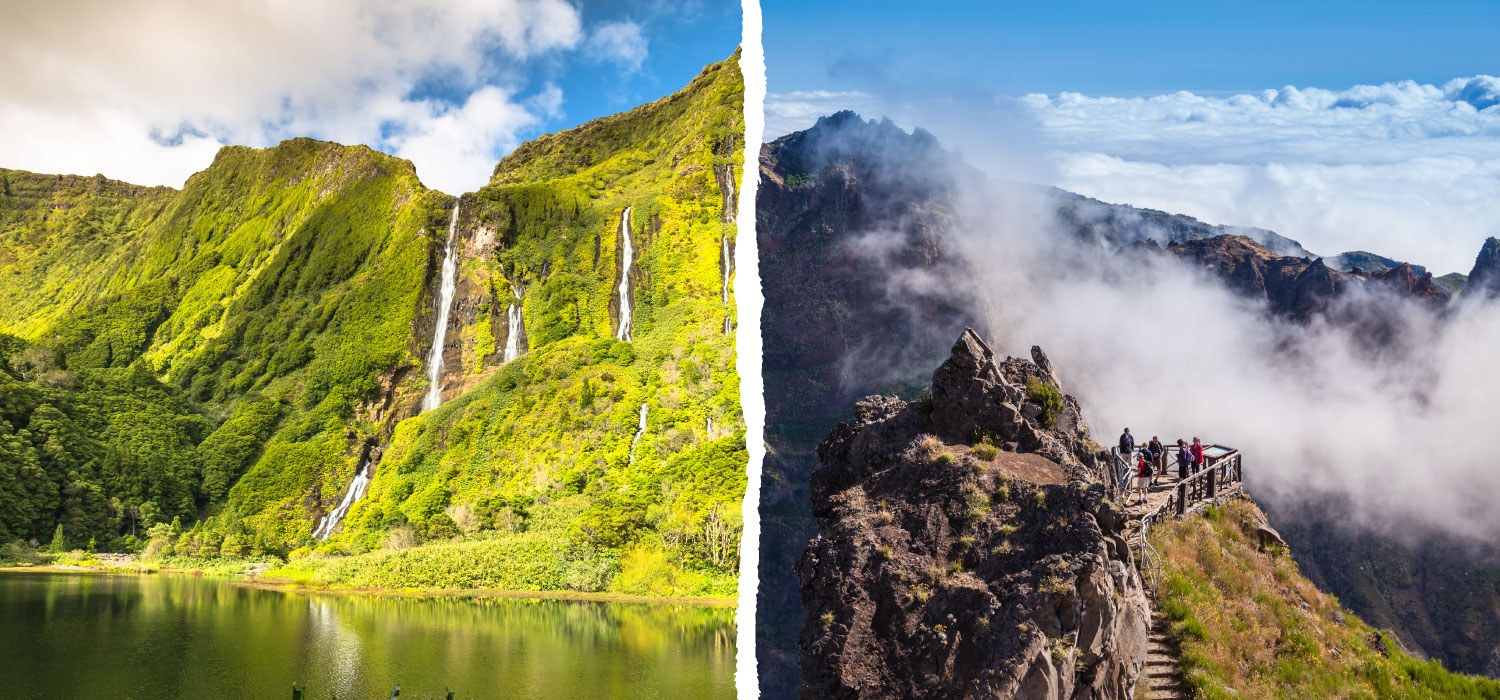 The Azores and Madeira. Daily flights from June 1 to September 30